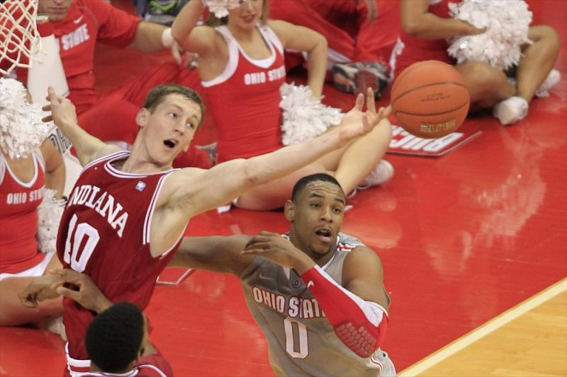 Indiana at Ohio State Men's Basketball action