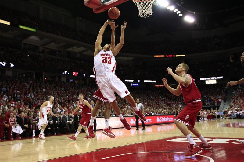 Indiana at Wisconsin Men's Basketball Action