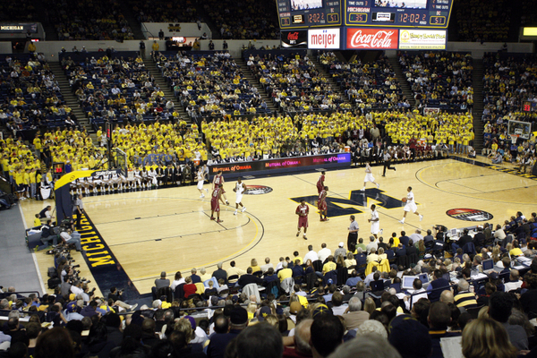 Michigan Wolverines Men's College Basketball Crisler Arena