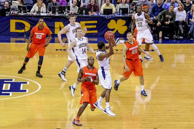 Syracuse at Notre Dame Men's Basketball Action