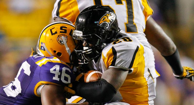 Towson FCS College Football versus LSU