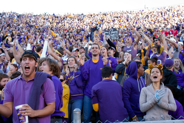 LSU Tigers College Football Fans
