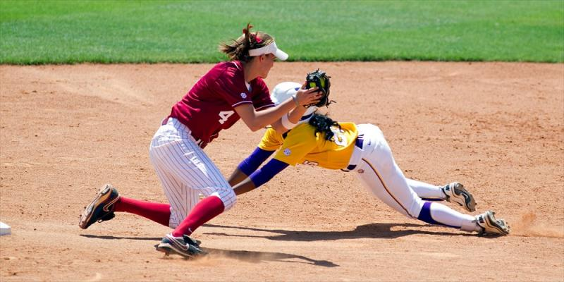 Alabama at LSU Softball action