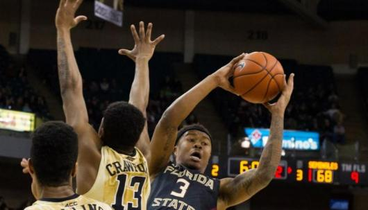 Florida State at Wake Forest Basketball Action