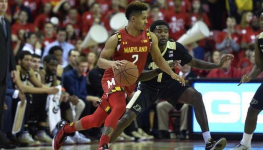 Maryland vs Purdue Mens Basketball Action