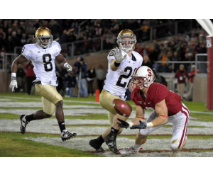 Stanford versus Notre Dame College Football