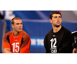 Texas A&M Quarterback Ryan Tannehill and Stanford Quarterback Andrew Luck