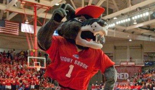 Stony Brook Mascot Wolfie
