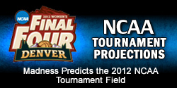 Women's Basketball NCAA Tournament Projections
