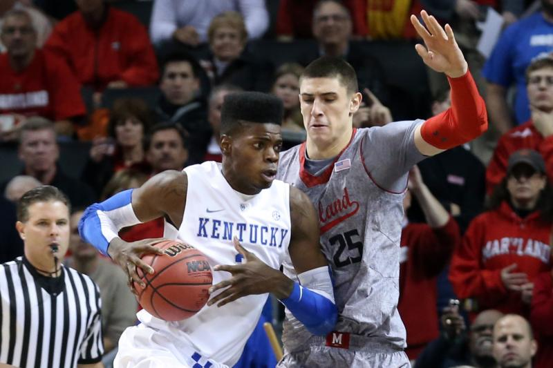 Kentucky's Nerlens Noel and Maryland's Alex Len